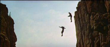 Image result for butch cassidy sundance kid jumping off cliff